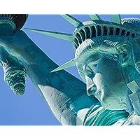 Pared Los Pícaros wr505003x 2,4m Estatua de la libertad mural papel pintado, color azul