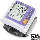 Hylogy Tensiómetro de Muñeca Presión Arterial Alta Precisión Monitor y Deteccion Arritmias, Pantalla Grande LCD