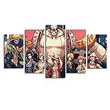 ZEMER Luffy Posters Quadro di Pittura Stampa su Tela One Piece Anime Immagini Arte Muraria per Decorazione Regalo di Decorazioni per Casa (Senza Cornice)