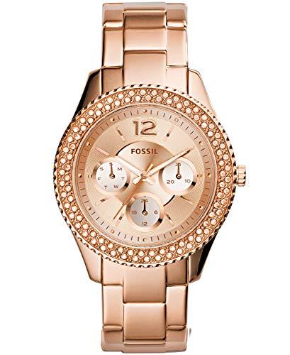 Fossil Reloj Mujer de Analogico con Correa en Acero Inoxidable ES3590P