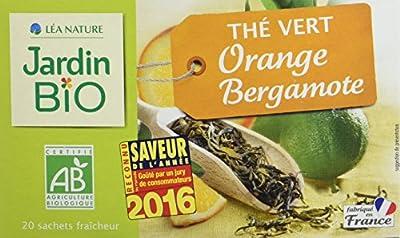 Jardin Bio Thé Vert Orange Bergamote 30 g - Lot de 4