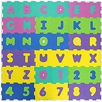 TÜV formamide sans eVA tapis puzzle puzzleteppich bodenmatten bodenpuzzles 36teilig (chiffres et lettres ou 10) pièces (chiffres) formamide contrôlée valeurs