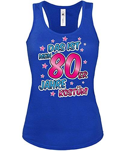80er Jahre Kostüm Karneval Fasching Motto Schlager Party Frauen Tank Top T-Shirt Schlagertshirt Kleidung Mottoparty Schlagerfartikel Schlagerkleidung (80 Erwachsenen Kostüme)