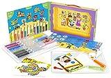 Sabbiarelli Sand-it for Fun Kit Color-Shine - Set Lavoretti Creativi: Crea e Colora con la Sabbia, Bambini 3+