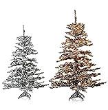 Hochwertiger künstlicher Weihnachtsbaum SCHNEE-bedeckt inkl. Lichterkette - 150 oder 190 cm - Tannenbaum, Christbaum (150 cm Schneebedeckt)