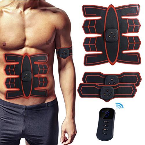 EMS Electroestimulador Muscular con Control Remoto inalámbrico Inteligente Carga USB Ajuste de Peso...