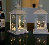 Link Products Cream Lantern Metal & Glass 28 Cm set 2
