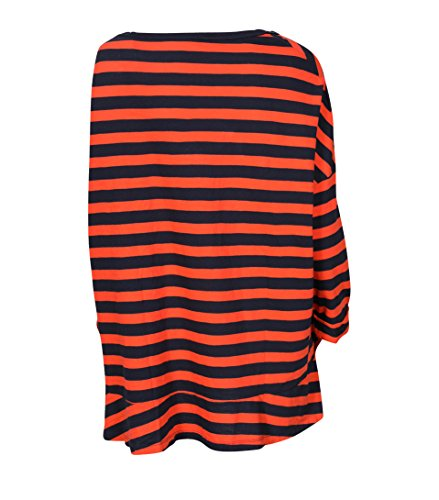 American Vintage Damen Shirt Camiliday Gestreift Navy-Orange navy raye vitamines
