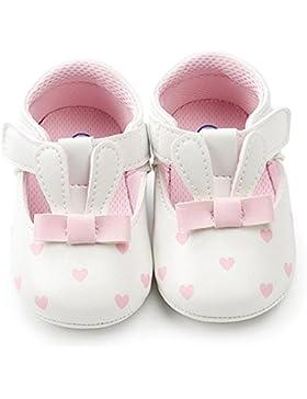 Logobeing Zapatos de Bebé 0-18 Mes, Bebé Chica Conejo Orejas Moda Niño Primeros Caminantes Zapatos de Niño