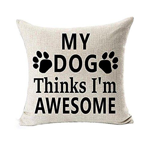 UBabamama Briefkasten mit Displayschutzfolie, beste, Hunde pillowslip mit Geschenken, Baumwolle, Leinen, Kissenbezug Kissenhülle