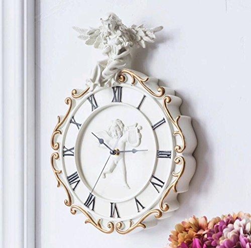 Bonne action Horloge murale Art Horloge Murale Horloge Jardin Horloge Européenne Moderne Horloge Table Créative Tableau Mur Mute Cupidon