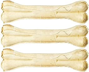 The DDS Store Pressed Dog Bone 8 inches (Large) - Pack of 3 Bones