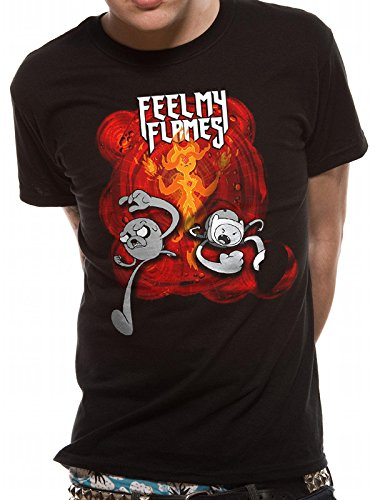 Cid Adventure Time-Feel My Flames, T-Shirt Uomo Nero