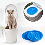 UEETEK Pet Toilet Training Seat for Cats Potty Training Tray Cats Kit (Blue) 15