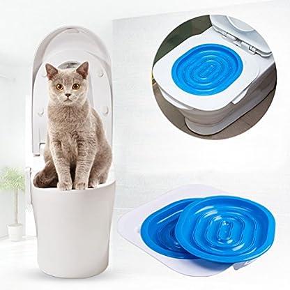 UEETEK Pet Toilet Training Seat for Cats Potty Training Tray Cats Kit (Blue) 6