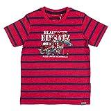 SALT AND PEPPER Jungen T-Shirt Fire Stripes, Rot (Red Melange 346), 92 (Herstellergröße: 92/98)
