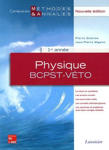 Physique 1re année BCPST-Véto
