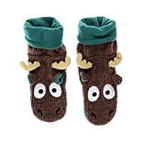 Lazy One LazyOne Unisex Moose Woodland Slippers