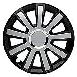 CM DESIGN 16 Zoll Flash Black Silver z.B. passend für Fast alle Ford z.B. für Fiesta MK7 JA8 mit Fußstütze