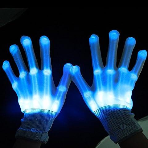 GAOMEIGuantes de delirar LED intermitente dedo , blu ray