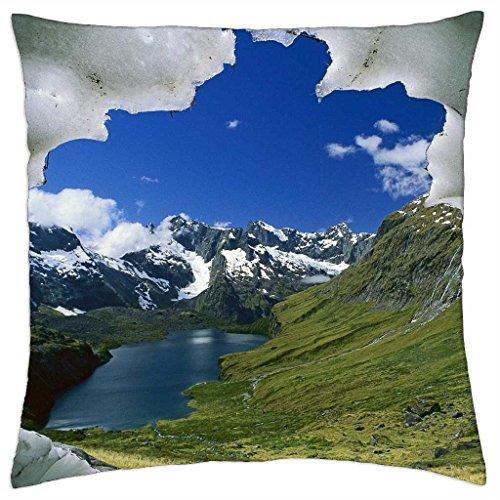 Fiordland National Park, Glacier, South Island, New Zealand - Throw Pillow Cover Case (18 (National Park Fiordland)