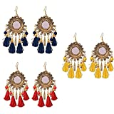 Best Ring 3 - Sitashi Gold Plated Mirror and Tassel Earrings Review
