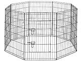 smithbuilt Hoch Puppy Hund Laufgitter–Tragbare Indoor Outdoor Pet Übungs Play Yard Pen Run mit Tragetasche–Schwarz–Verschiedene Größen, 30-inch High