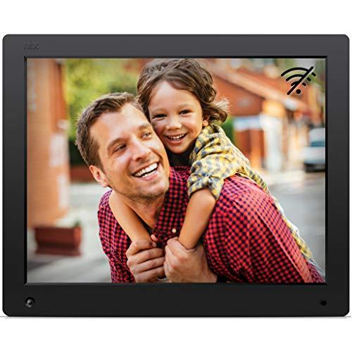 NIX Advance 15 Zoll HD - Der einzige Digitaler Bilderrahmen, der Fotos und Videos in Einer Diashow reibungslos darstellen kann