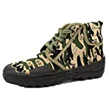 Hiking Shoes Men Waterproof Leather Lightweight High Top Sports Shoes Camouflage Running Shoes Training Shoes,Camo-40