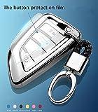 YUWATON KFZ Schlüssel Cver KFZ Schlüssel Fall Auto Fernbedienung, für Mercedes-Benz A B C E Class GLA GLC GLE Schlüsselanhänger Key Cover Schutz Schlüssel Button Silber