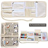 Teamoy Organizador de la caja de la lona para los ganchos de ganchillo Crocheting Needles Bag--Cartoon Cats(Sin accesorios incluidos)