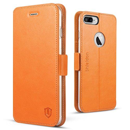 custodia iphone 7 plus marrone