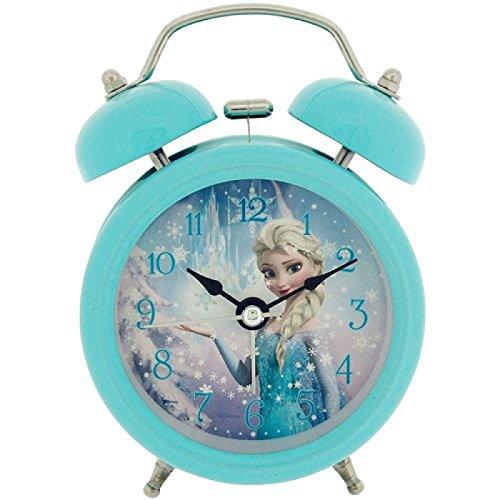 Disney Frozen Elsa Niños Despertador, Metal, 90x 110mm