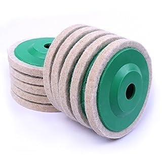 Atoplee 5pcs 4'' 100mm Wool Polishing Buffing Wheel Pad Bore Dia
