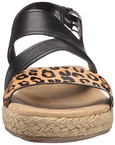 Aerosoles Globetrotter Cuir Sandale Leopard Tan