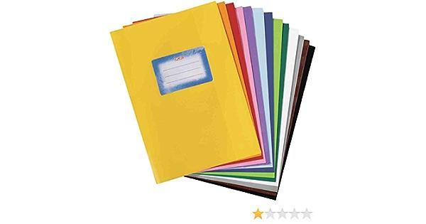 Lot de 10 prot/ège-cahiers A5 avec /étiquettes Couleurs assorties
