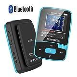 CFZC MP3-Player mit Bluetooth, 8GBit-Bluetooth-MP3-Player mit Clip, unterstützt FM-Radio, erweiterbarer Mikro-SD-Steckplatz, unterstützt 64GBit