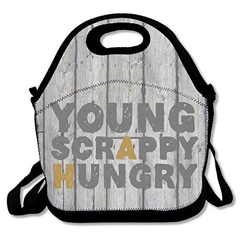 qianrude Lunch Tasche Young Scrappy Hungry Lunchpaket 100% Polyester Schule Lebensmittels Staubbeutel für Reisen und Picknick Isolierte Wasserdicht Lunch Box -