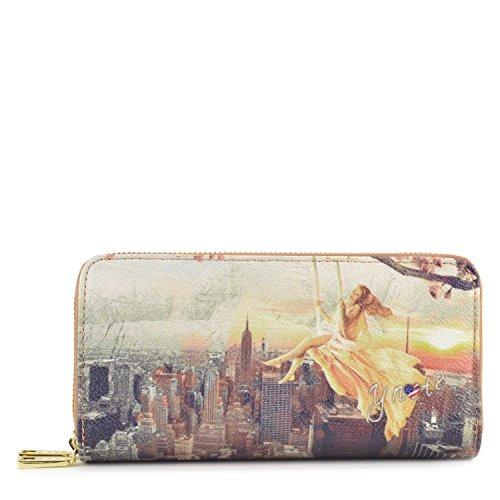 Portafoglio donna con doppia Zip Y Not - H368 Lively New York