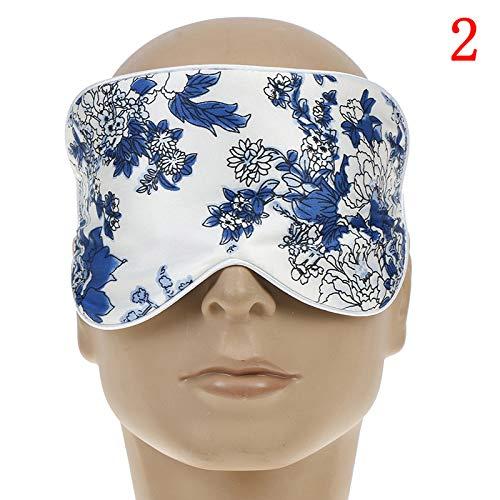 Schlafende Blume Seide Schattierung EyeShade Schlafen Auge Maske Abdeckung Eyepatch Augenklappen Augenschatten Gesundheit Schlaf Schild Licht 2 - Zwei Licht-schild