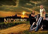 Nickelback 11Chad Kroeger Ryan Peake Mike KROEGER Daniel Adair toller Rock-Metal Album Cover Design Musik Band beste F