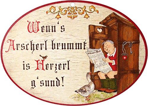 Kaltner Präsente Geschenkidee - Holz Wandschild Spruchschild im Antik Design lustiges Motiv Leben...