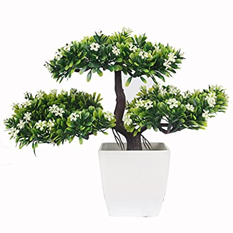 JAROWN Artificial Pine Tree with Flowers Bonsai Fake Branch Nearly