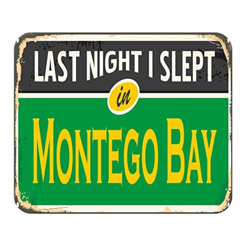 Jamaika Montego Bay (Gaming Mauspad mit Fotodruck Mousepad 220 x 180 mm Rutschfest Schwarz Fransenfreier Rand Präzision Retro Metropole Montego Bay Jamaika bedruckt)