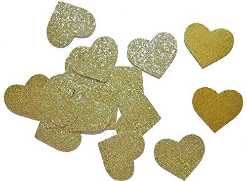 (Herzform Gold Glitter Dekoration Konfetti Hochzeit Tisch Party Geburtstag, Packung mit 200 Konfetti)