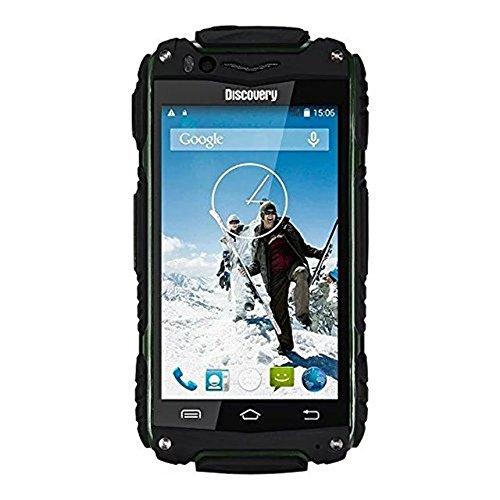 Hipipooo-Discovery V8 Wasserdichtes Staubdichtes Shakeproof Smartphone Rugged Android 4.4 3G Unlocked Handy 4,0 Zoll Mtk6572 Daul-Core, Dual SIM Card Slot (Grün) Discovery-handy
