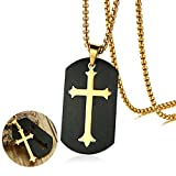 Best Cross Jewelry Boxes - Asma Jewel House Cross Pendant Black Dog Tag Review