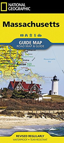 Massachusetts (National Geographic Guide Map)