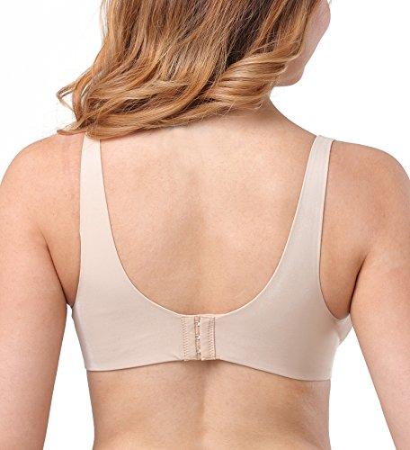 DotVol Damen Still BH Bügel Nahtlose Schwangerschafts-BHS Umstandsmode Unterwäsche mit Verstellbarer Verschluss (36DD=80E, Beige) - 2