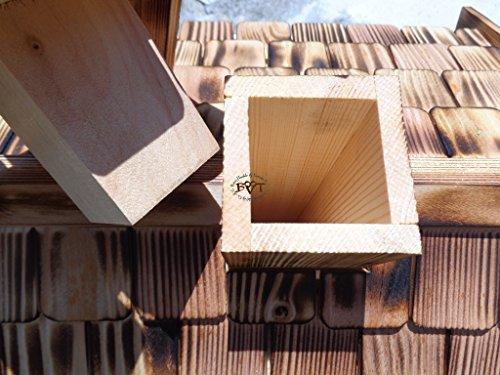 Vogelhaus, Futterhaus,groß, K-BEL-VOVIL4-at001 NEU! PREMIUM-Qualität,Vogelhaus,MIT großem SILO, Qualität Schreinerware 100% Massivholz – VOGELFUTTERHAUS MIT FUTTERSCHACHT-Futtersilo Futterstation Farbe schwarz lasiert, anthrazit / Holz natur, Ausführung Naturholz MIT TIEFEM WETTERSCHUTZ-DACH für trockenes Futter - 5